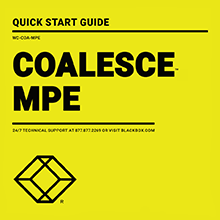 Coalesce Quick Start Guide Thumbnail