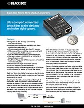Media Converters Mini-Data Sheet