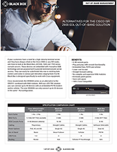 Console Server Cisco ISR 2900 Replacement Flyer Thumbnail