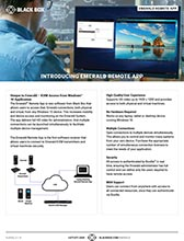 Emerald Remote App Flyer