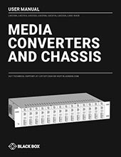 Media Converters User Manual