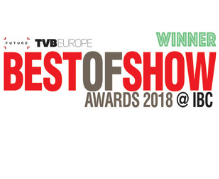 Best of Show TVB IBC 2018