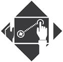 radian drag drop icon