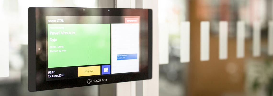 InSession screen mounted on door